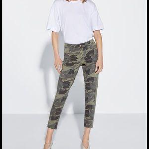 Zara size 4 camouflage denim jeans
